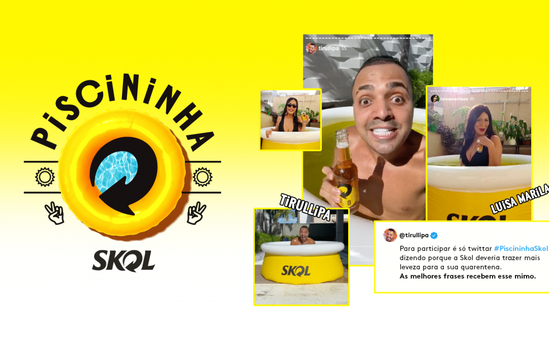 SKOL promete piscininha para divertir o público durante a quarentena