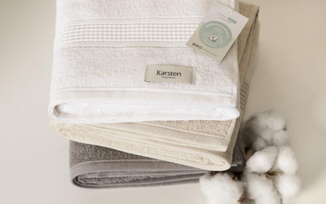 Karsten lança toalha com tecnologia pioneira Antimicrobiana