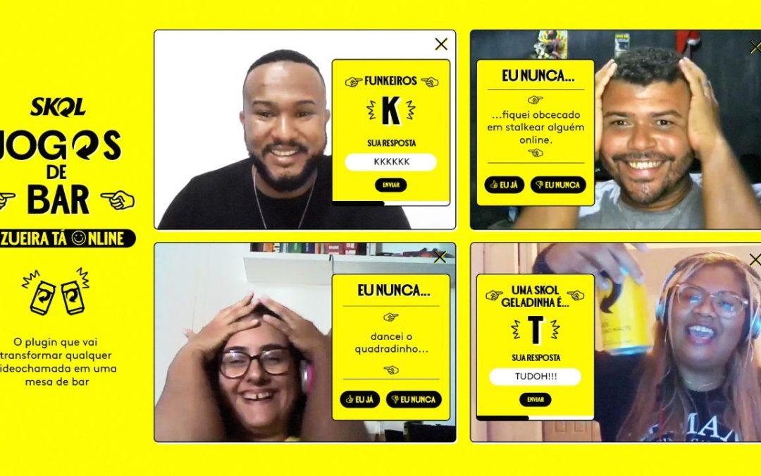 Skol lança jogos de bar online para animar a conversa entre amigos na quarentena