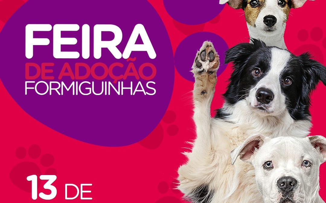 Feira de adoção de animais acontece neste sábado (13) no Shopping Itaguaçu